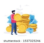 fees and funding  rich finance... | Shutterstock .eps vector #1537325246