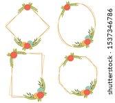 vintage wedding geometric...   Shutterstock .eps vector #1537346786