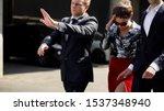celebrity bodyguards protecting ... | Shutterstock . vector #1537348940