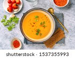 Winter Spicy Lentil Cream Soup...