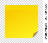 yellow sticky note on... | Shutterstock .eps vector #1537356329