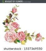elegance invitation with rose.... | Shutterstock .eps vector #1537369550