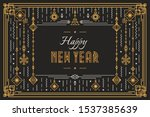 vector happy new year... | Shutterstock .eps vector #1537385639