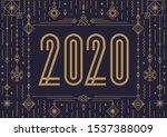 2020 happy new year banner... | Shutterstock .eps vector #1537388009