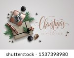 christmas composition made of... | Shutterstock .eps vector #1537398980