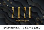 2020 new year logo. greeting... | Shutterstock .eps vector #1537411259