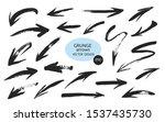 set of different grunge brush... | Shutterstock .eps vector #1537435730