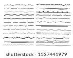 sketch underlines vector.... | Shutterstock .eps vector #1537441979