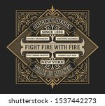 antique label with floral... | Shutterstock .eps vector #1537442273