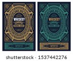 vintage label for packing.... | Shutterstock .eps vector #1537442276