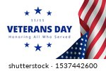 happy and free veterans day... | Shutterstock .eps vector #1537442600