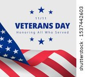 happy and free veterans day... | Shutterstock .eps vector #1537442603