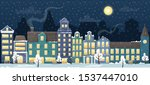 winter cityscape with the...   Shutterstock .eps vector #1537447010