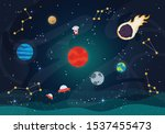 vector illustration of space.... | Shutterstock .eps vector #1537455473