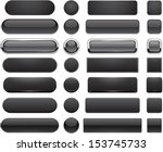 set of blank black buttons for... | Shutterstock .eps vector #153745733