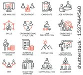 vector set of linear icons... | Shutterstock .eps vector #1537464560