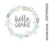 hello winter wreath vector... | Shutterstock .eps vector #1537495610