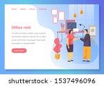 office rent service website... | Shutterstock .eps vector #1537496096