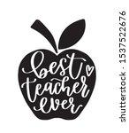 apple teacher gift design....   Shutterstock .eps vector #1537522676
