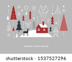 christmas  and new year's card. ... | Shutterstock .eps vector #1537527296
