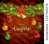 Brick Wall Background With Fir...