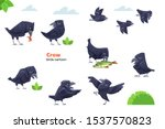 crow cartoon character. crows... | Shutterstock .eps vector #1537570823