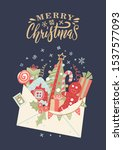 letter to santa claus.... | Shutterstock .eps vector #1537577093