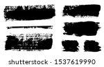 brush strokes. vector... | Shutterstock .eps vector #1537619990
