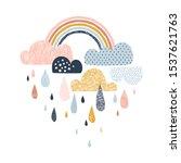 vector sky illustration with... | Shutterstock .eps vector #1537621763