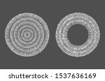 hand drawn round frame  circle  ... | Shutterstock .eps vector #1537636169