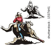Illustration Of A Saddled Hors...