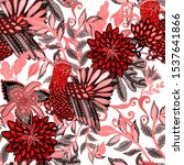creative seamless pattern with... | Shutterstock . vector #1537641866