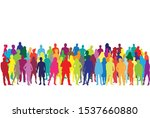 silhouette of a people. vector... | Shutterstock .eps vector #1537660880