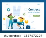 termination of the contract ...   Shutterstock .eps vector #1537672229