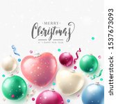 christmas greeting card with... | Shutterstock .eps vector #1537673093