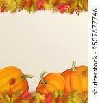 autumn vertical banner with... | Shutterstock .eps vector #1537677746