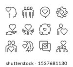 relationship bold line icon set.... | Shutterstock .eps vector #1537681130