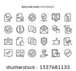 checkmark bold line icon set.... | Shutterstock .eps vector #1537681133