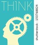 vector minimal design   think | Shutterstock .eps vector #153768824