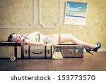 Young Woman  Sleep On The...