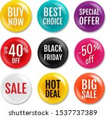 sale badge isolated white... | Shutterstock .eps vector #1537737389