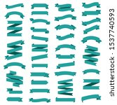 mint ribbons set isolated white ... | Shutterstock . vector #1537740593