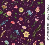 floralfloral seamless pattern ... | Shutterstock .eps vector #153774230