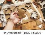 making christmas gingerbread... | Shutterstock . vector #1537751009
