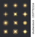 glowing stars. realistic... | Shutterstock .eps vector #1537752116