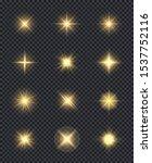 glowing stars. realistic... | Shutterstock .eps vector #1537752116