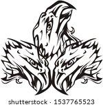 three headed eagle symbol in...   Shutterstock . vector #1537765523