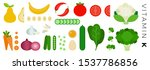 fruits and vegetables with... | Shutterstock .eps vector #1537786856
