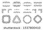text frame  monogram  divider ... | Shutterstock .eps vector #1537800410