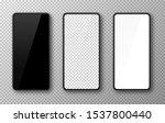 realistic smartphone mockup set.... | Shutterstock .eps vector #1537800440